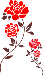 Red Rose Logo Vector - Air Rose Vector PNG