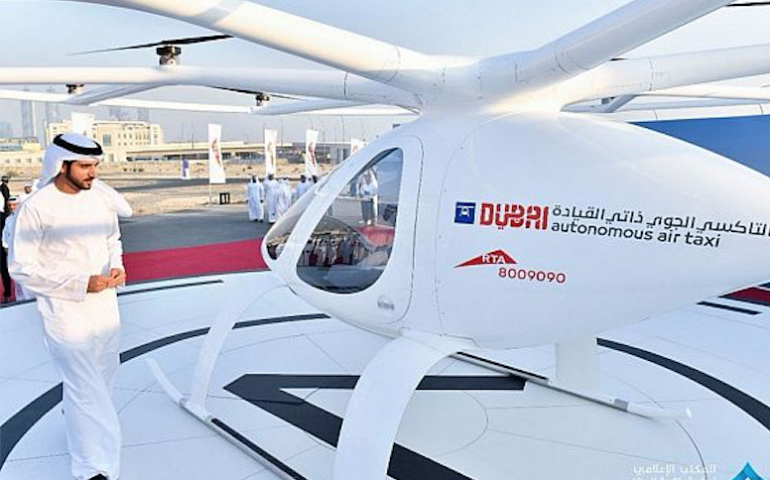 Dubai has successfully tested the worldu0027s first Air taxi service on Monday  at United Arab Emirates city. The unmanned craft is developed by German  drone PlusPng.com  - Air Texi PNG