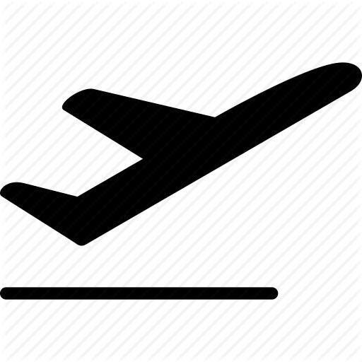 airplane, departure, emigration, flight, start, take off, takeoff icon - Airplane Taking Off PNG