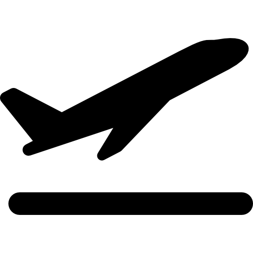 Takeoff the plane free icon