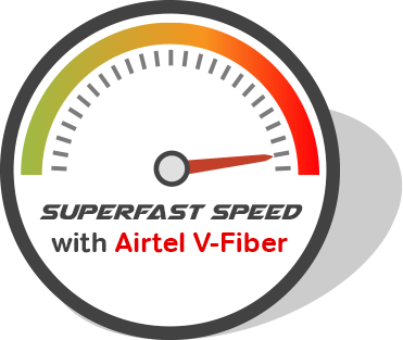 broadband speed test, V-fiber in India - Airtel Vector PNG