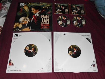 Pearl Jam U2013 Aladdin Las Vegas 1993 Radio Broadcast 2 LP WHITE VINYL IMPORT  EUROPE - Aladdin Las Vegas Logo PNG