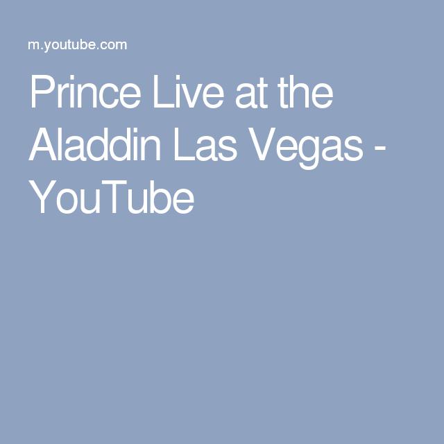 Prince Live At The Aladdin Las Vegas - YouTube - Aladdin Las Vegas Logo PNG