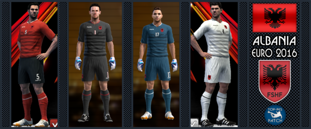 PES 2013 Albania national football team EURO 2016 by Radymir - Albania National Football Team PNG