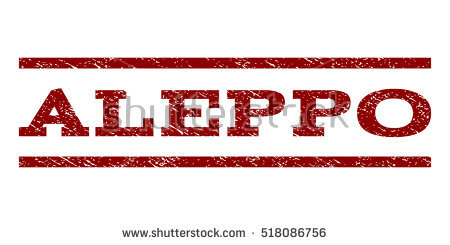 Aleppo watermark stamp. Text caption between horizontal parallel lines with  grunge design style. Rubber - Aleppo Vector PNG