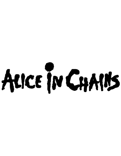 Alice in Chains Logo Rub-On Sticker - Black Approximately 6 Inches - 15 cm - Alice In Chains Vector PNG