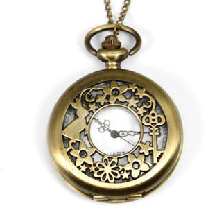 Alice in Wonderland Pocket Watch Copper - One size - Alice In Wonderland Pocket Watch PNG