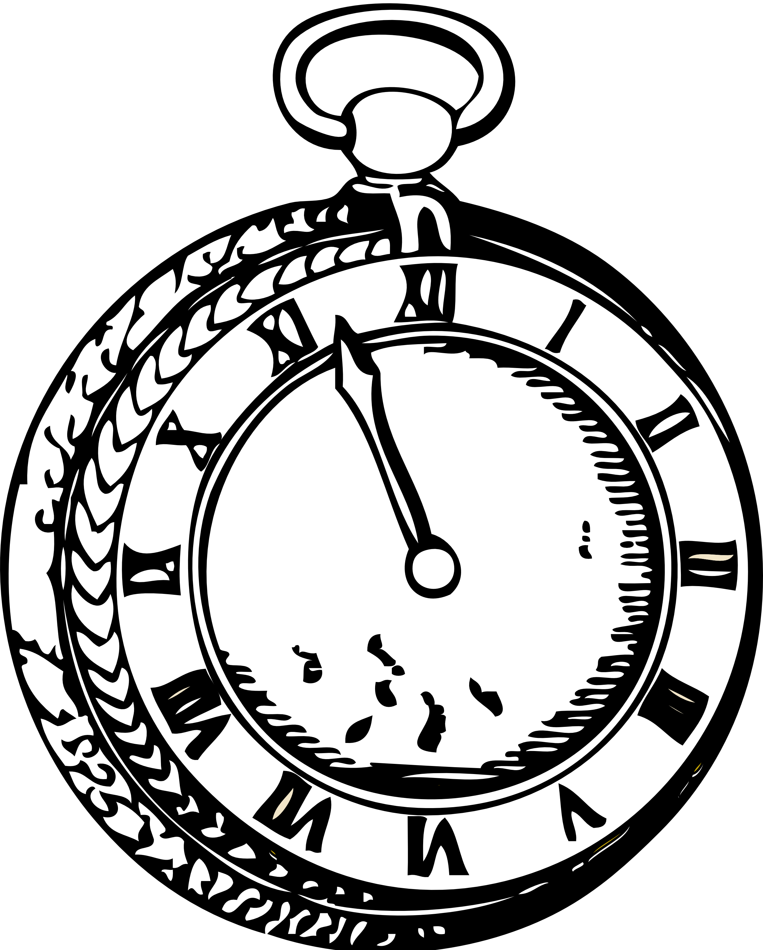 pin Pocket Watch clipart outline #4 - Alice In Wonderland Pocket Watch PNG