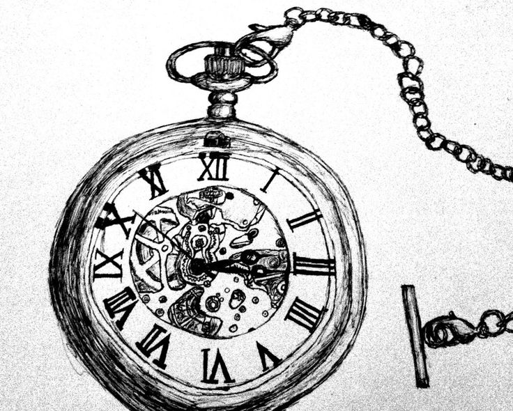 Pocket Watch Pen Drawing by WayOutOfProportion.deviantart pluspng.com on @deviantART - Alice In Wonderland Pocket Watch PNG