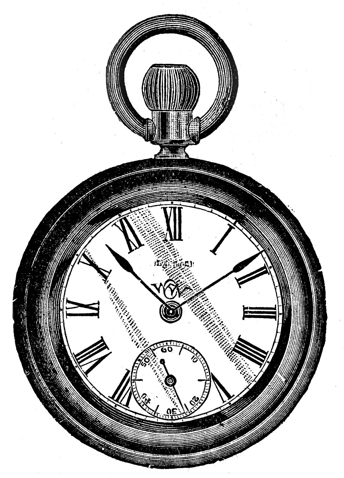 vintage pocket watch clipart - Alice In Wonderland Pocket Watch PNG
