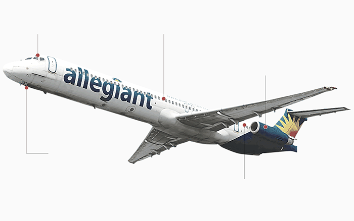 Cockpit instruments - Allegiant Air PNG