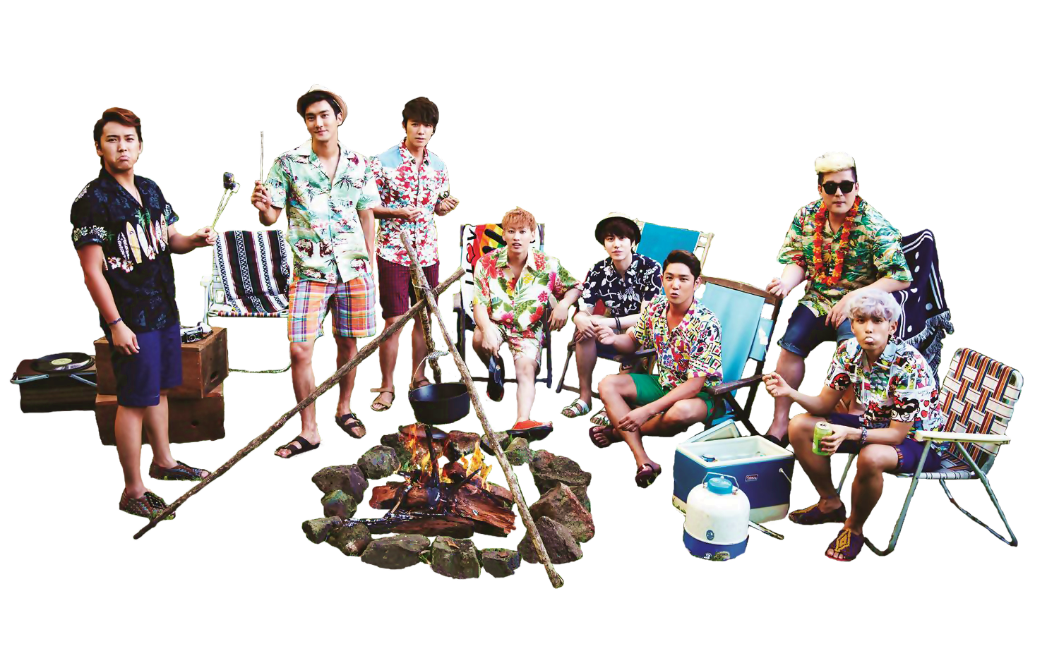 . PlusPng.com Super Junior ALOHA png 1 by Romue - Aloha Style PNG