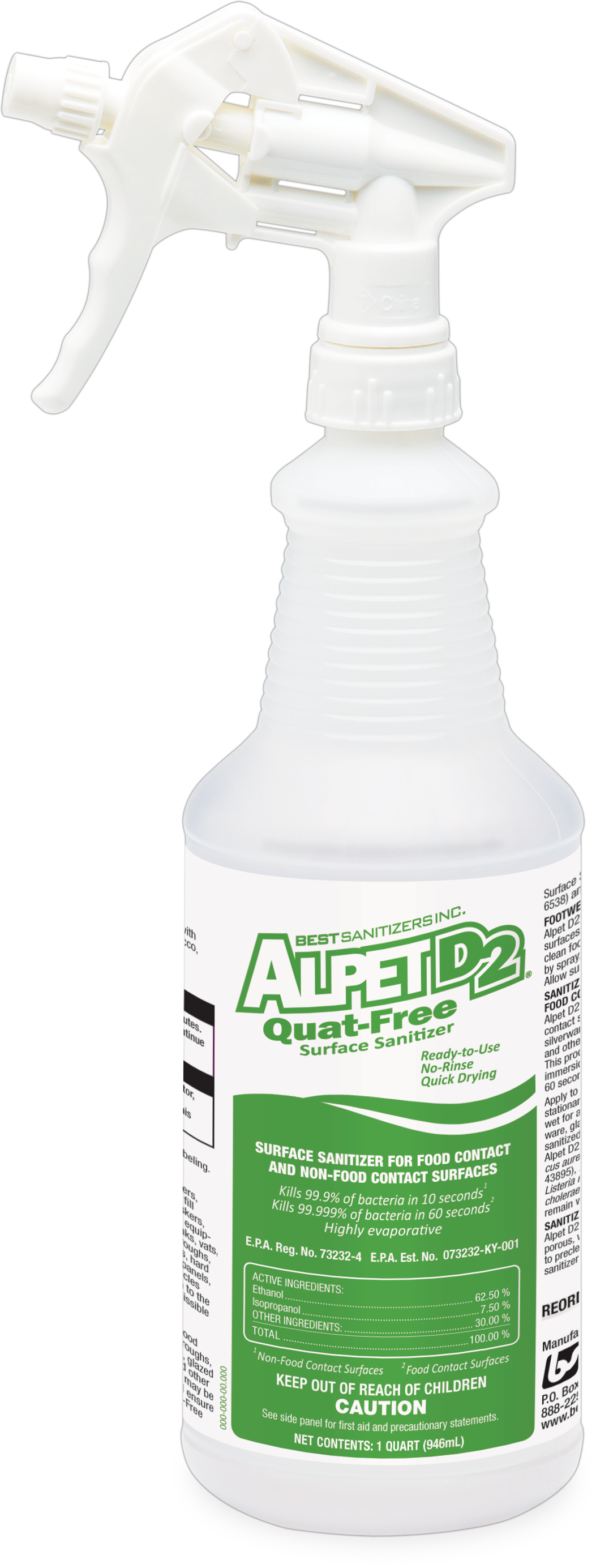 Alpet D2 Quat-Free Surface Sanitizer from Best Sanitizers is an effective  food contact and PlusPng.com  - Alpet PNG