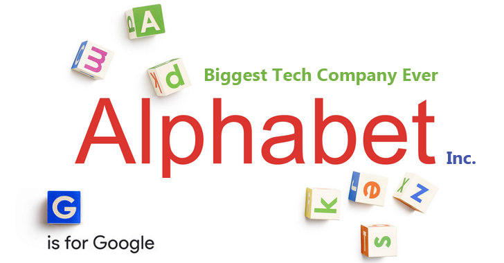 A New Company Called Alphabet Now Owns Google; Sundar Pichai Becomes New CEO - Alphabet Inc PNG