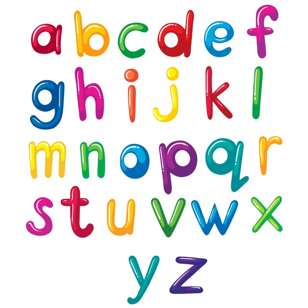 Coloured alphabet design - Alphabets PNG