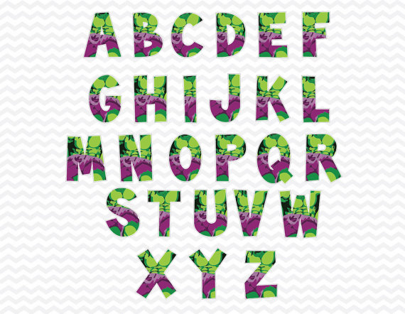 HULK alphabets superhero Alphabet PNG superhero by ABCSongShop - Alphabets PNG
