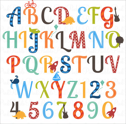 Nursery-Alphabet-Clipart-Letters-for-Boy-Kids.jpg - Alphabets PNG