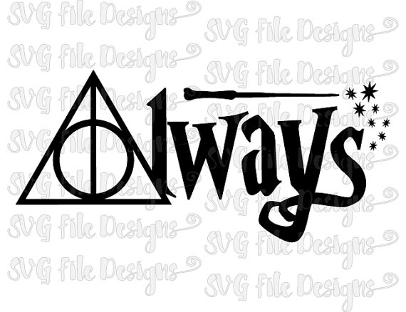 Harry Potter Always Deathly Hallows Wand Symbol by SVGFileDesigns - Always PNG