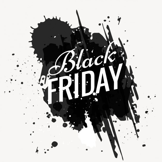 Grunge black friday background Free Vector - Ama Black Vector PNG
