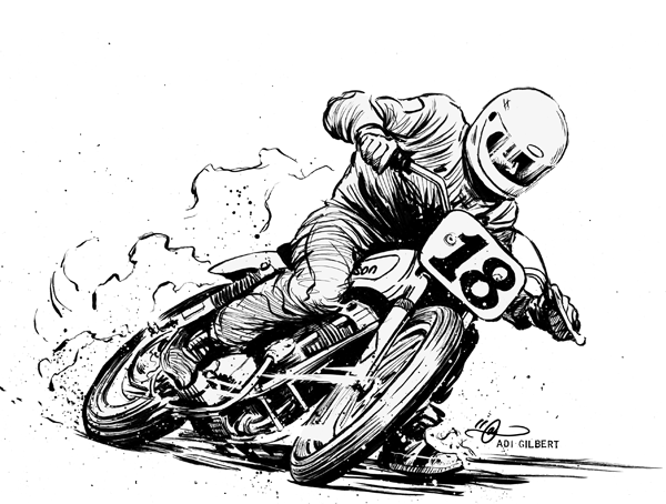 Flat Track Motorcycle Racing