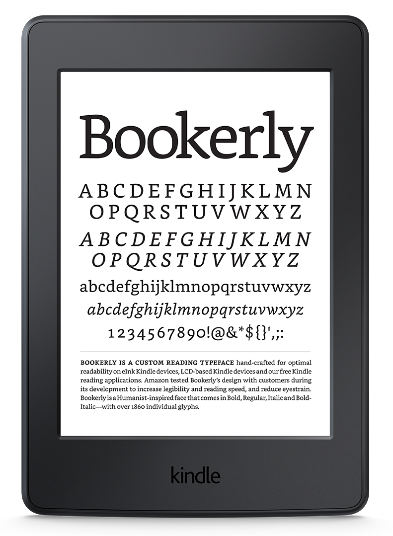 Bookerly-the font for readers - Amazon Kindle PNG