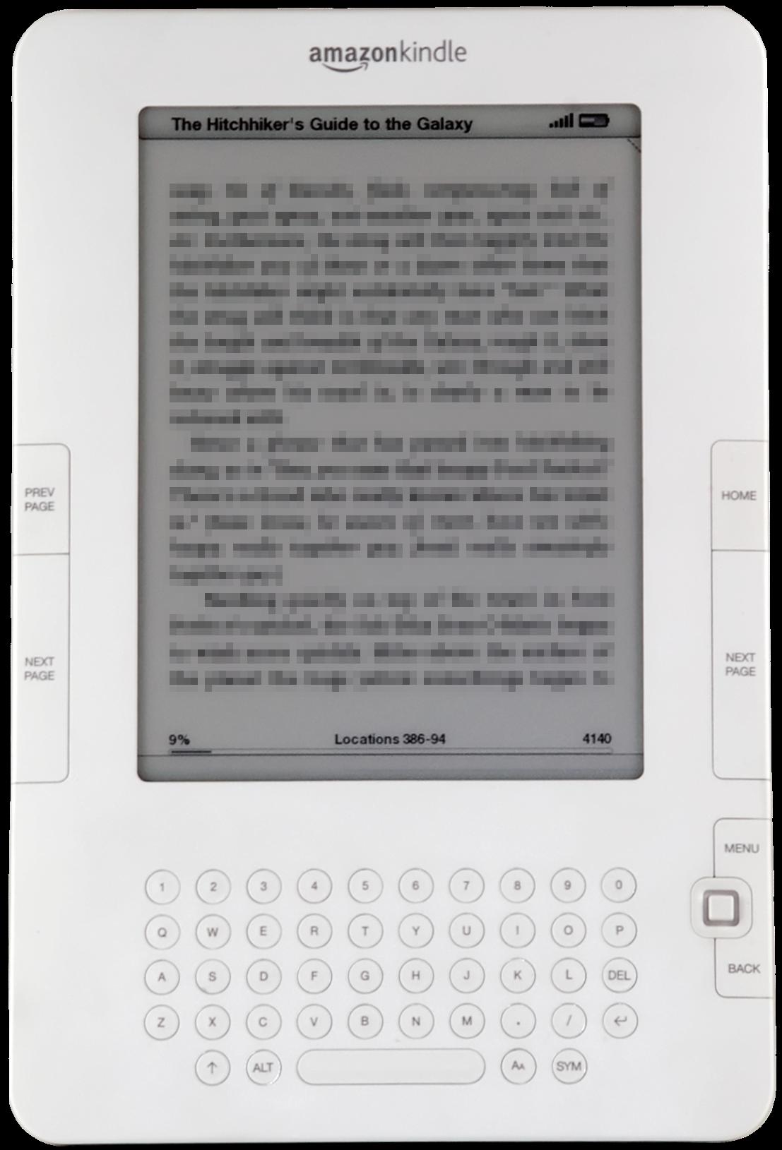 Amazon Kindle PNG - 30836