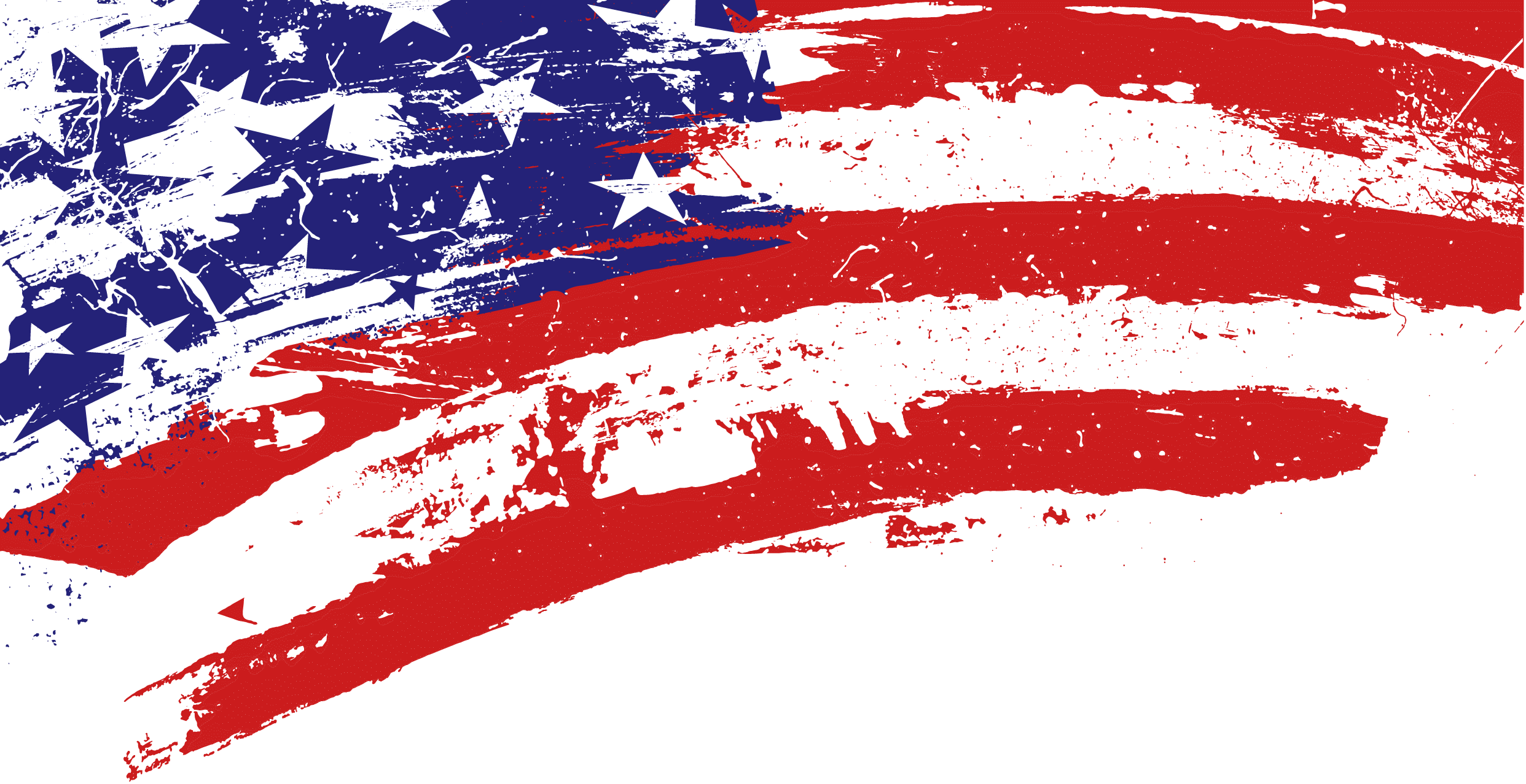 Corner Scratch American Flag - American Flag PNG Transparent