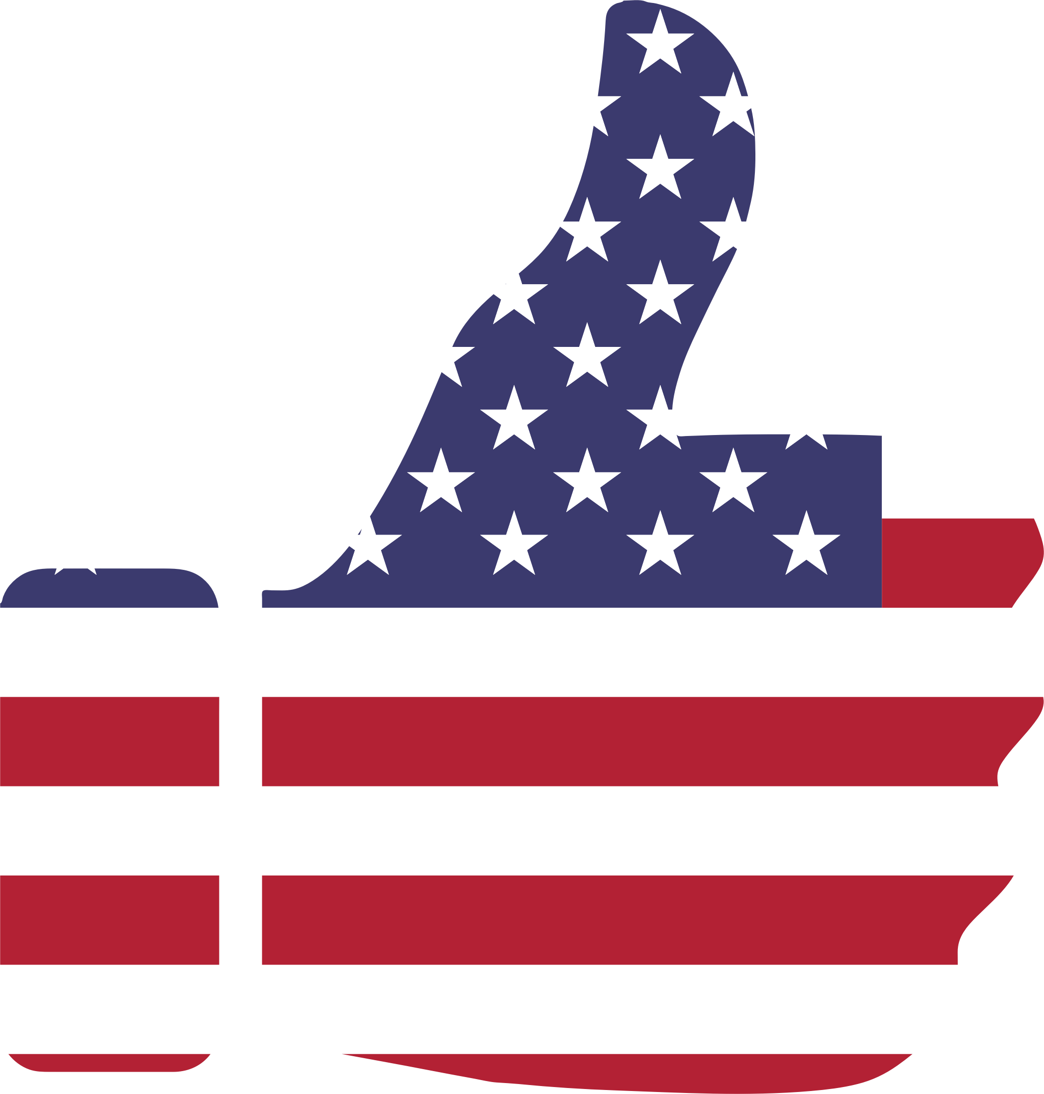 Thumb Up American Flag - American Flag PNG Transparent