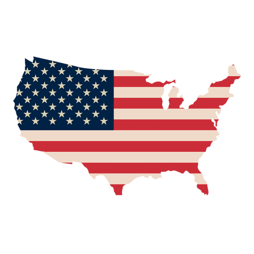 Usa flag print map Transparent PNG - American Flag PNG Transparent