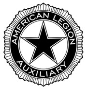 Large black and white auxiliary emblem PlusPng.com  - American Legion Logo PNG