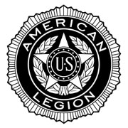 Large black and white emblem PlusPng.com  - American Legion Logo PNG