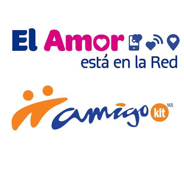 Logo amigo kit el amor esta en la red con amigo de telcel - Amigo Kit Logo PNG