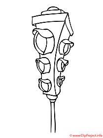 Ampel Clipart Schwarz Weiß