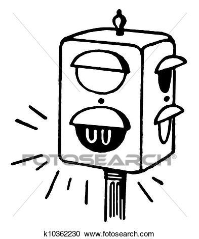 ampel clipart schwarz weiß 5 - Ampel PNG Schwarz Weiss