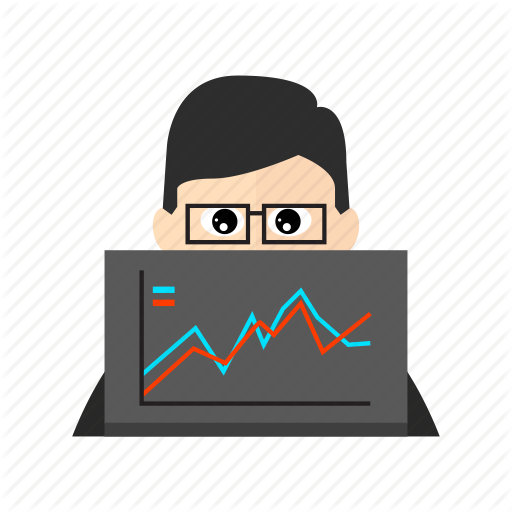 analysis, analyst, analytics, chart, computer, data, laptop icon - Analyst PNG