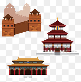 The Great Wall of China ancient buildings vector material, Great Wall,  Ancient Architecture, - Ancient China PNG HD