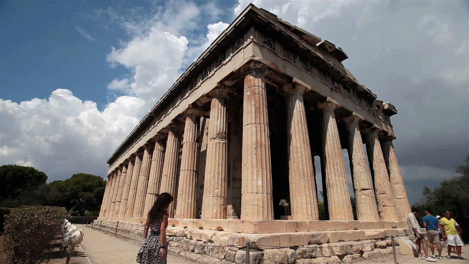 Athens Greece Ancient Hephaestus Agora Temple HD 3360 Stock Video Footage -  VideoBlocks - Ancient Greece PNG HD