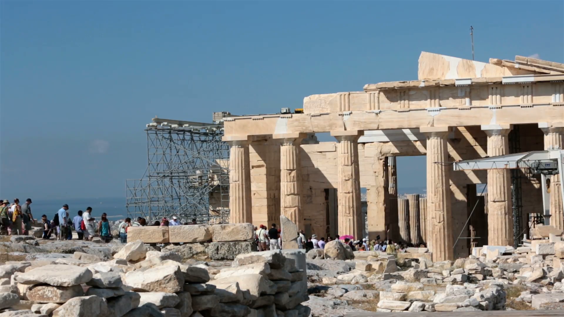 Athens Greece ancient Parthenon tourists fast HD 4303 Stock Video Footage -  VideoBlocks - Ancient Greece PNG HD