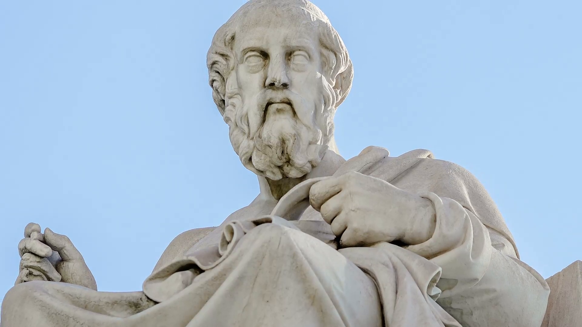 Closeup Marble Statue of the Ancient Greek Philosopher Plato on Sky  Background Stock Video Footage - VideoBlocks - Ancient Greece PNG HD