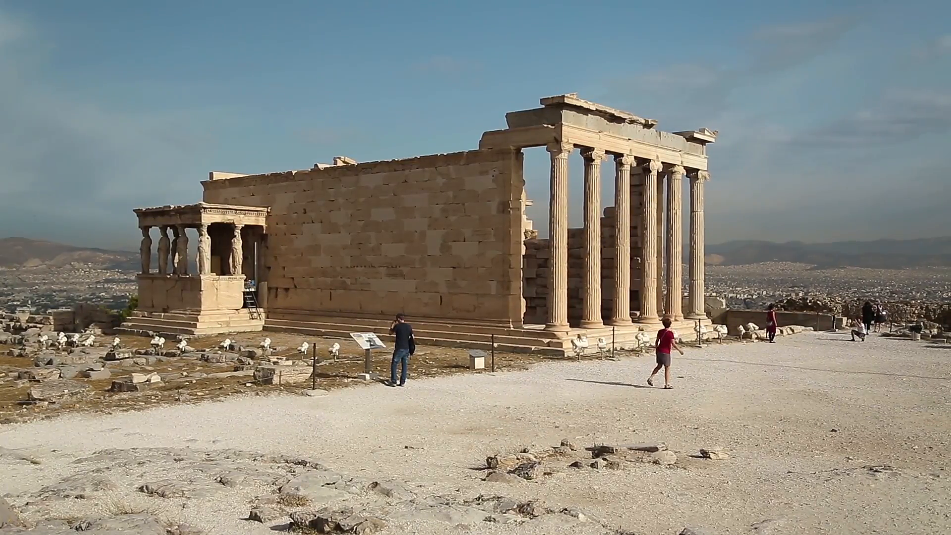 Erechtheion or Erechtheum is an ancient Greek temple in Acropolis of Athens  in Greece which was dedicated to both Athena and Poseidon Stock Video  Footage - PlusPng.com  - Ancient Greece PNG HD