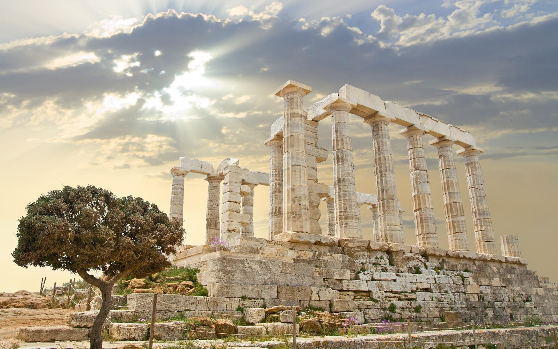 HD Fabulous Ancient Greek Ruins Wallpaper - Ancient Greece PNG HD