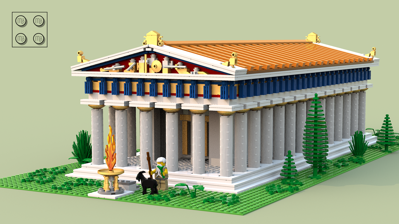 This minifigure-scaled model represents a typical ancient greek temple  built in classical doric order as the Parthenon of Athens, although from an  earlier PlusPng.com  - Ancient Greece PNG HD