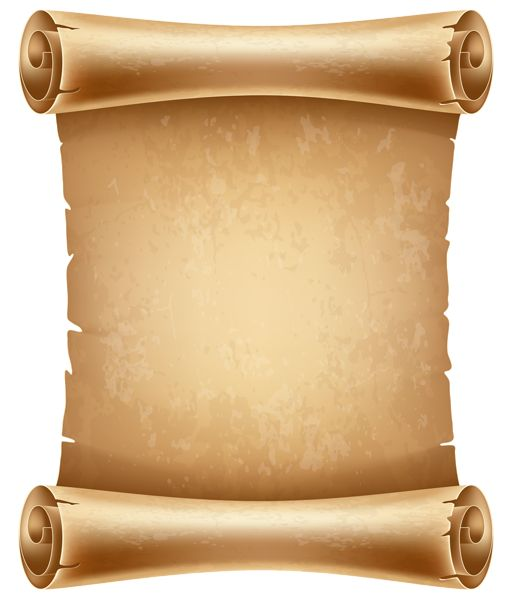 Old Scrolled Paper PNG Clipart Image - Ancient Letter Roll PNG