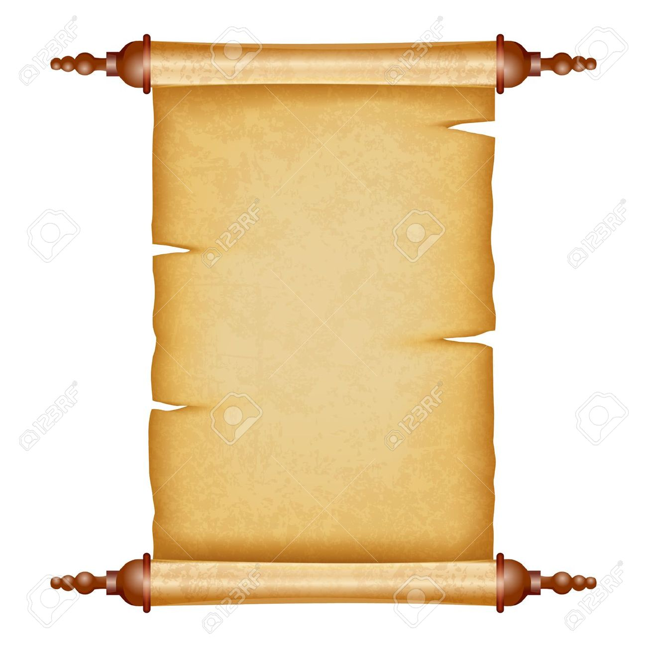 Parchment paper scroll clipart - Ancient Letter Roll PNG