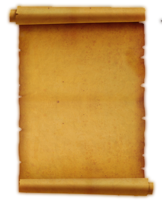 rolled old paper background - Ancient Letter Roll PNG