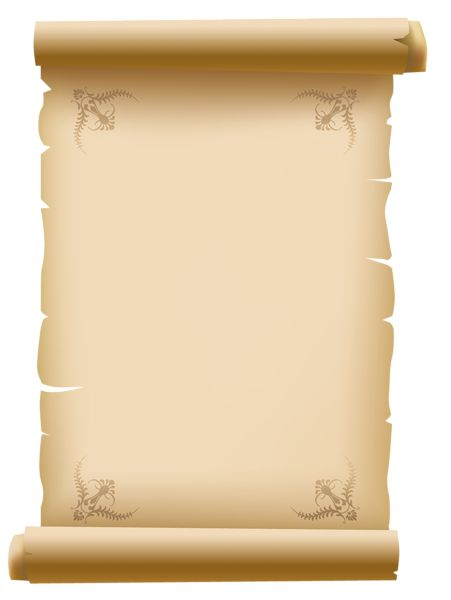 Scrolled Old Decorative Paper PNG Clipart Picture - Ancient Letter Roll PNG