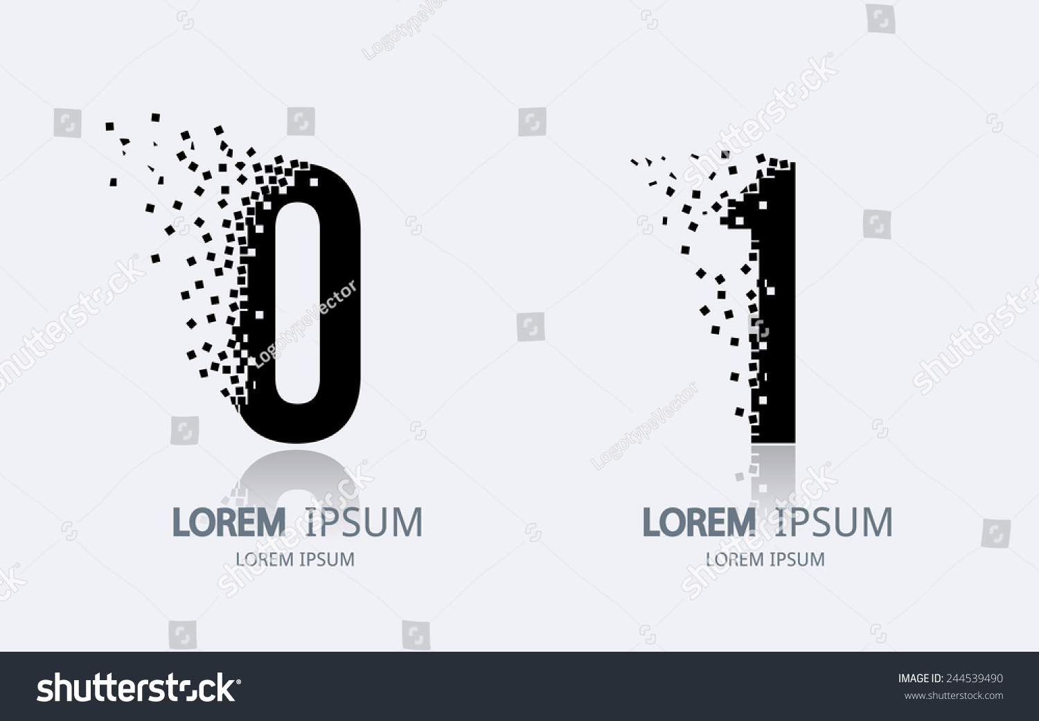 Number 0 and 1 logo. Vector logotype design. - And1 Logo Vector PNG