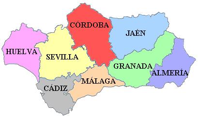 File:Mapa de las provincias de Andalucía.png - Andalucia PNG