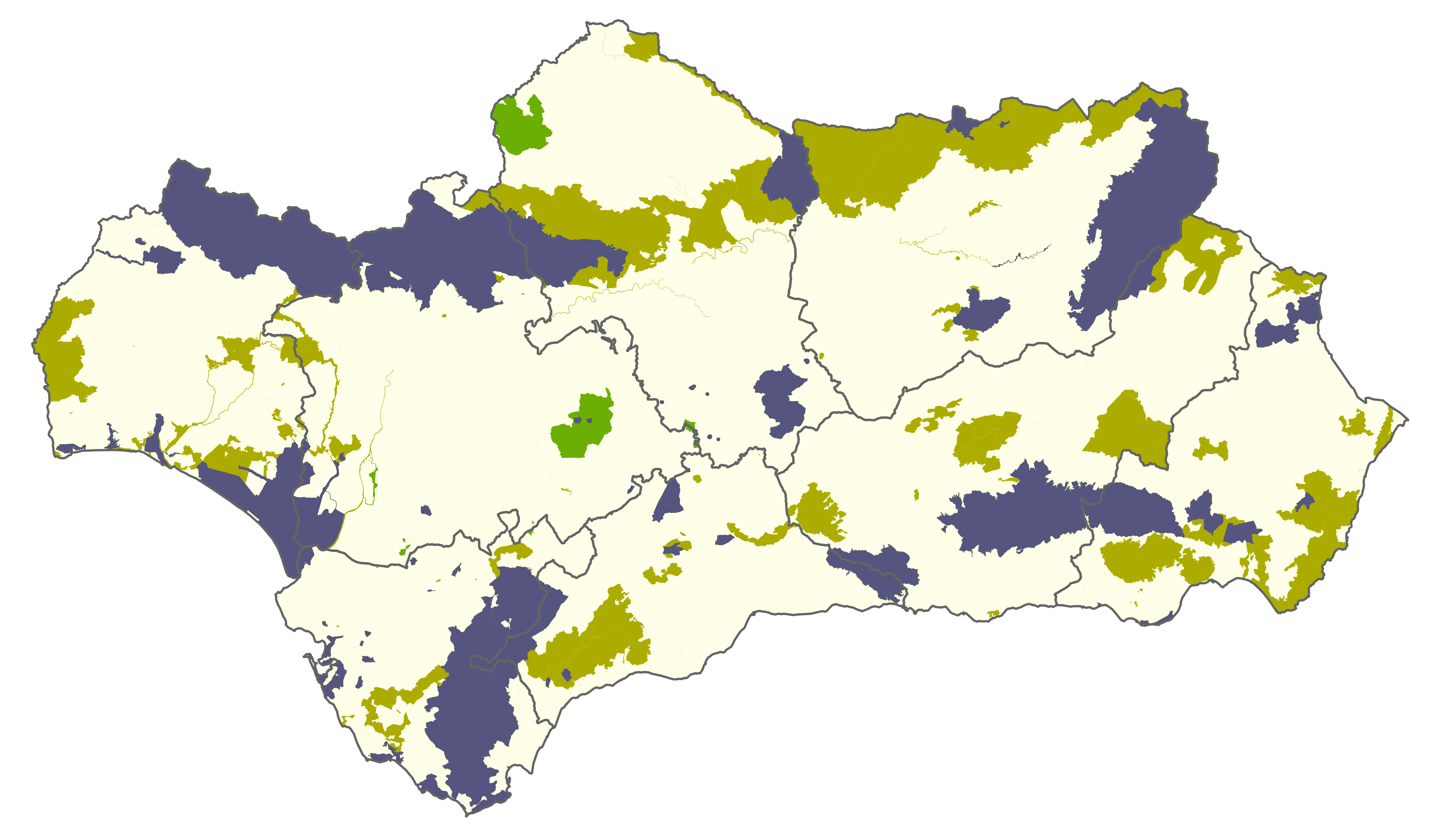 File:Natura 2000 map Andalucia.png - Andalucia PNG