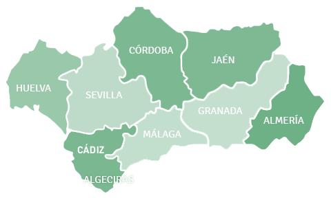 Mapa de Andalucía - Andalucia PNG